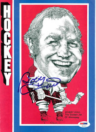 Bobby Hull Autographed Magazine Page Photo Winnipeg Jets PSA/DNA #U93692