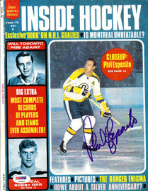 Phil Esposito Autographed Inside Hockey Magazine Cover Boston Bruins PSA/DNA #U93801