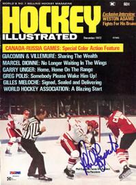 Phil Esposito Autographed Hockey Illustrated Magazine Cover Team Canada PSA/DNA #U93802