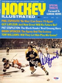 Phil Esposito Autographed Hockey Illustrated Magazine Cover Boston Bruins PSA/DNA #U93803