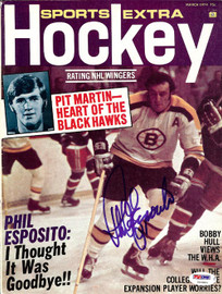 Phil Esposito Autographed Sports Extra Hockey Magazine Cover Boston Bruins PSA/DNA #U93804