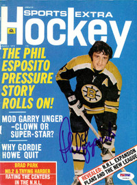 Phil Esposito Autographed Sports Extra Hockey Magazine Cover Boston Bruins PSA/DNA #U93809