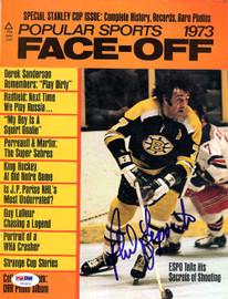 Phil Esposito Autographed Face-Off Magazine Cover Boston Bruins PSA/DNA #U93815
