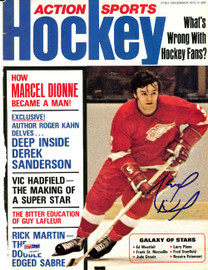 Marcel Dionne Autographed Action Sports Hockey Magazine Cover Detroit Red Wings PSA/DNA #U93883