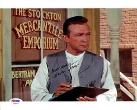 Warren Stevens Autographed 8x10 Photo Big Valley PSA/DNA #U94827