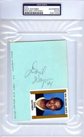 Dave Waymer Autographed 4x6 Index Card PSA/DNA #83513354