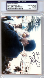 Muhammad Ali Autographed 3x5 Photo PSA/DNA #83513343