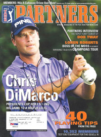 Chris DiMarco Autographed 2006 PGA Tour Partners Magazine PSA/DNA #K86019
