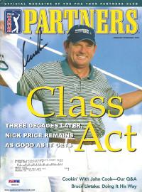 Nick Price Autographed 2003 PGA Tour Partners Magazine PSA/DNA #K86021