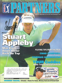 Stuart Appleby Autographed 2006 PGA Partners Magazine PSA/DNA #L10837