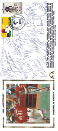 1984 USA Olympic Team Autographed First Day Cover With 20 Total Signatures Including Mark McGwire & Will Clark PSA/DNA #K39842