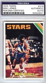 Wali Jones Autographed 1975 Topps Card #319 Utah Stars PSA/DNA #83504831