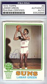 Lamar Green Autographed 1973 Topps Card #9 Phoenix Suns PSA/DNA #83525896