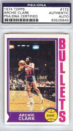 Archie Clark Autographed 1974 Topps Card #172 Washington Bullets PSA/DNA #83525849