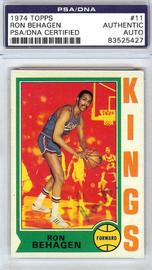 Ron Behagen Autographed 1974 Topps Card #11 Kansas City Kings PSA/DNA #83525427
