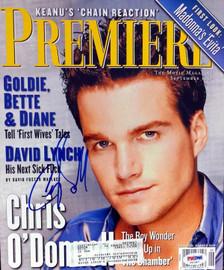 Chris O'Donnell Autographed Premiere Magazine PSA/DNA #V57387