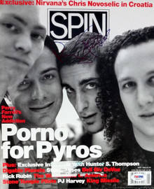 Perry Farrell Autographed Spin Magazine Porno For Pyros PSA/DNA #V56033