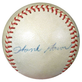 Hank Aaron & Johnny Logan Autographed Baseball 1950's Vintage Signature PSA/DNA #I88281