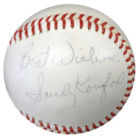 "Sandy Koufax Autographed NL Baseball Los Angeles Dodgers ""Best Wishes"" Vintage Playing Days Signature PSA/DNA #V02561"
