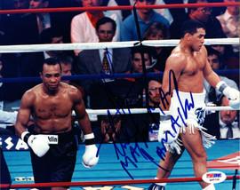"Sugar Ray Leonard & Hector ""Macho"" Camacho Autographed 8x10 Photo PSA/DNA #Q95720"