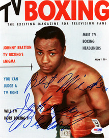 "Johnny Bratton Autographed 8x10 Photo ""Best Wishes"" PSA/DNA #Q95965"