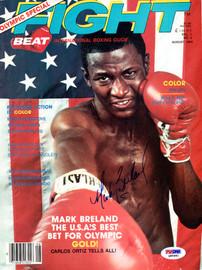 Mark Breland Autographed Fight Magazine Cover PSA/DNA #Q95981