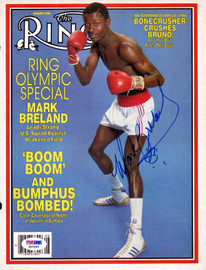 Mark Breland Autographed The Ring Magazine Cover PSA/DNA #Q95984