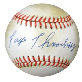 Faye Throneberry Autographed Official AL Baseball Senators, Boston Red Sox PSA/DNA #X23240