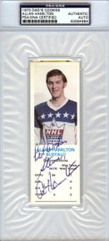 """Allan Hamilton Autographed 1970 Dad's Cookies Card Buffalo Sabres """"Best Wishes Steve"""" PSA/DNA #83584684"""