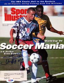 Ernie Stewart Autographed Sports Illustrated Magazine Team USA PSA/DNA #X23362