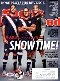 Clint Dempsey Autographed Sports Illustrated Magazine Team USA PSA/DNA #X23370
