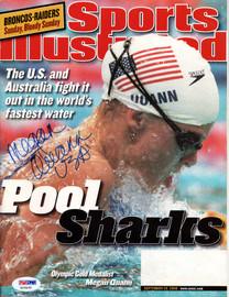 "Megan Quann Autographed Sports Illustrated Magazine ""USA"" PSA/DNA #X23425"