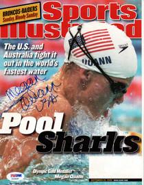 "Megan Quann Autographed Sports Illustrated Magazine ""USA"" PSA/DNA #X23426"
