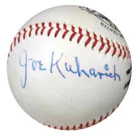Joseph Joe Kuharich Autographed Official NL Giles Baseball Notre Dame Fighting Irish PSA/DNA #W05063