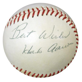 """Hank Aaron & Others Autographed Official AL Baseball """"Best Wishes"""" Vintage PSA/DNA #W05048"""