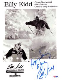 Billy Kidd Autographed 8.5x11 Photo PSA/DNA #X23435