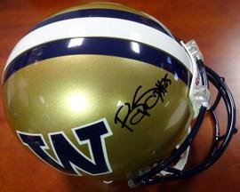Bishop Sankey Autographed Riddell UW Huskies Full Size Authentic Helmet MCS Holo #40381
