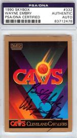 Wayne Embry Autographed 1990 Skybox Card #332 Cleveland Cavaliers PSA/DNA #83712478