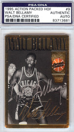 Walt Bellamy Autographed 1995 Action Packed HOF Card #9 PSA/DNA #83713681