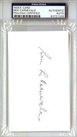 Ben Carnevale Autographed 3x5 Index Card PSA/DNA #83721326