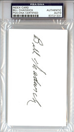 Bill Chadwick Autographed 3x5 Index Card PSA/DNA #83721331