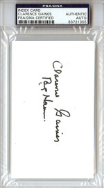 "Clarence ""Big House"" Gaines Autographed 3x5 Index Card Winston-Salem State University PSA/DNA #83721355"