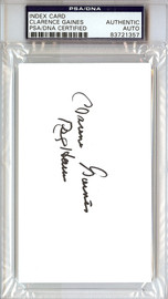 "Clarence ""Big House"" Gaines Autographed 3x5 Index Card Winston-Salem State University PSA/DNA #83721357"