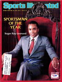 Sugar Ray Leonard Autographed Sports Illustrated Magazine PSA/DNA #X59906