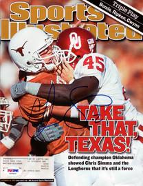 Chris Simms Autographed Sports Illustrated Magazine Texas Longhorns PSA/DNA #X65633