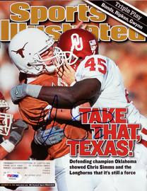 Chris Simms Autographed Sports Illustrated Magazine Texas Longhorns PSA/DNA #X65634