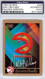 Walt Bellamy Autographed 1990 Skybox Card #328 Atlanta Hawks PSA/DNA #83713686