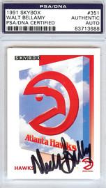 Walt Bellamy Autographed 1991 Skybox Card #351 Atlanta Hawks PSA/DNA #83713688