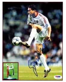 Sergio Claudio Dos Santos Autographed 8x10 Photo A.C. Milan PSA/DNA #U54343