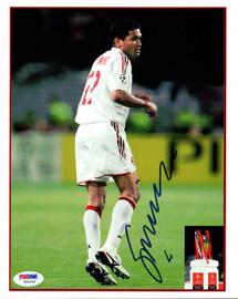 Sergio Claudio Dos Santos Autographed 8x10 Photo A.C. Milan PSA/DNA #U54344